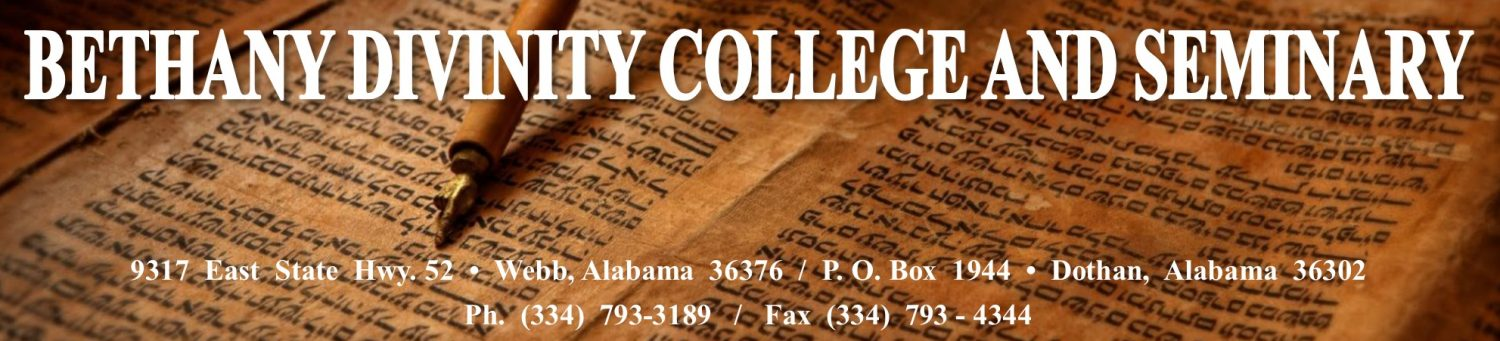 Bethany Divinity College and Seminary